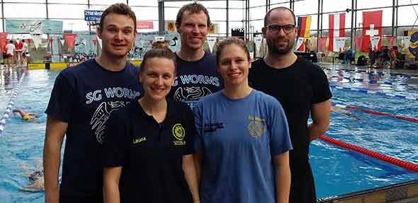 Das Wormser Team bei den Masters in Gau-Algesheim.