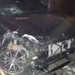 Unfallbeschädigter Mercedes GLE AMG. Foto: Polizei