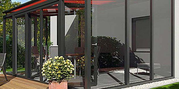 Der Fachbetrieb Thurow realisiert u.a. Wintergärten und Überdachungen in allerlei Varianten.