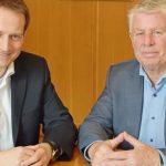 Oberbürgermeister Michael Kissel und der Bundestagsabgeordnete Manuel Höferlin (FDP) tauschten sich im Wormser Rathaus über Möglichkeiten der politischen Zusammenarbeit aus (von rechts).