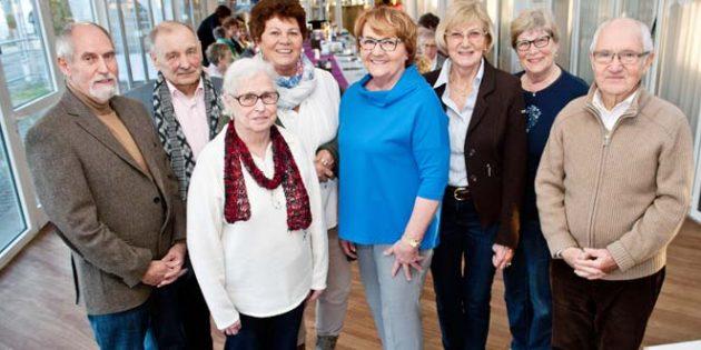 Die Senioren Union Worms hat einen neuen Vorstand gewählt. Annelie Büssow (5. von links) bleibt die Vorsitzende und Karl Appel (links) Stellvertreter.