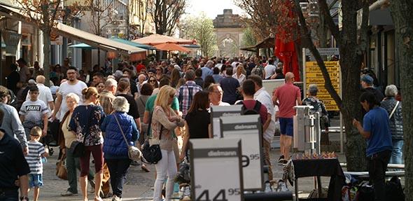 Mit all seinen Angeboten war der verkaufsoffene Sonntag in Frankenthal erneut ein großer Publikumsmagnet.