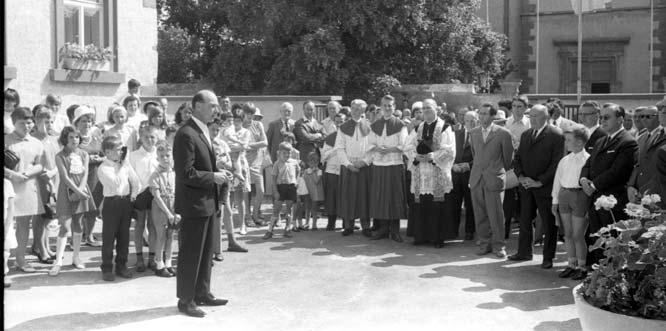 Die Einweihung Museums Abenheim im Jahr 1968. Foto: Stadtarchiv Worms