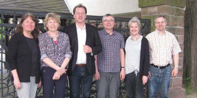 Ilse Kron-Weber, Gudrun Schmitt-Walb, Dr. Jörg Koch, Manfred Eiband, Gisela Marquardt und Thorsten Neufeldt (von links).