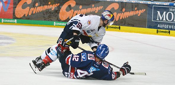 München obenauf, Mannheim am Boden. So zumindest die Gefühle nach 1:2 Niederlage der Adler bei Red Bull. Foto: Gernot Kirch