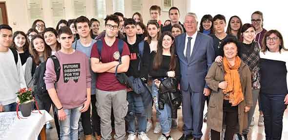 Begrüßung im Rathaus für den Besuch aus der italienischen Partnerstadt Parma.