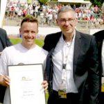 """Zum """"Man of the Match"""" wurde Steffen Straub gekürt, der alle drei Treffer der Wormatia vorbereite. Foto: Felix Diehl"""