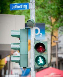 Das Luther-Ampelmännchen. Foto: Tobias Albers-Heinemann