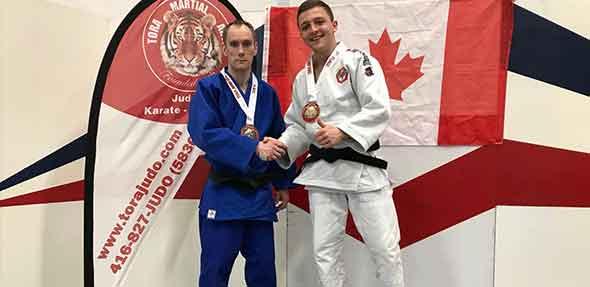 Auch in Kanada konnte Christoph Braun (weißer Judo-Anzug) seine Klasse unter Beweis stellen.