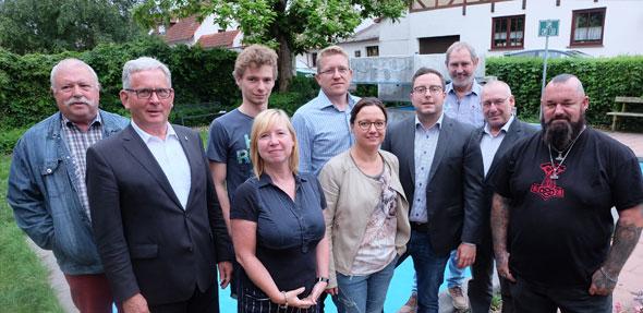 Der neu gewählte SPD-Vorstand in Pfeddersheim kämpft auch für eine weitere Amtszeit von OB Kissel.