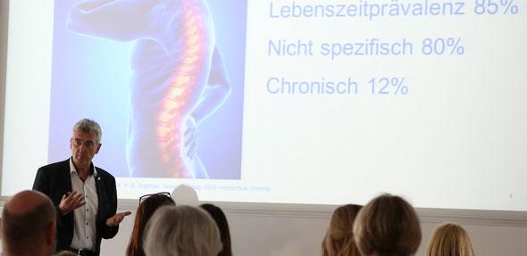 Professor Dr. Grützner als Keynote-Speaker beim 3. Gesundheitstag der Hochschule Worms.
