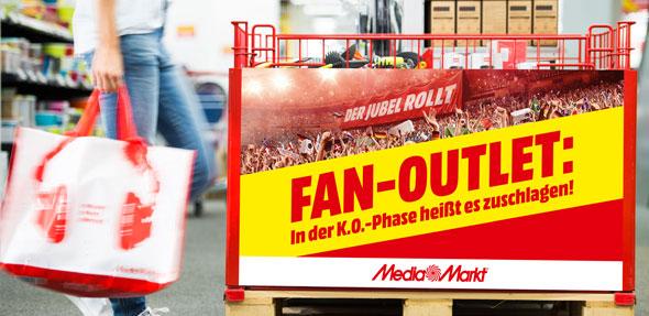 """Das große """"Fan-Outlet"""" startet am Montag, dem 2. Juli, und bietet zwei Wochen lang bis zum WM-Finale am Sonntag, dem 15. Juli, die Chance, sich mit erstklassigen Produkten zu absoluten Tiefstpreisen einzudecken."""
