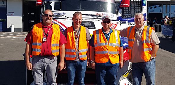 Die Sportwarte des Motor-Sport-Club Alzey erlebten spannende Tage beim Truck-Gramd-Prix.