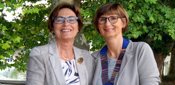 Die scheidende Präsidentin Heidi Lammeyer (links) und ihr Nachfolgerin Ute Hornuf.