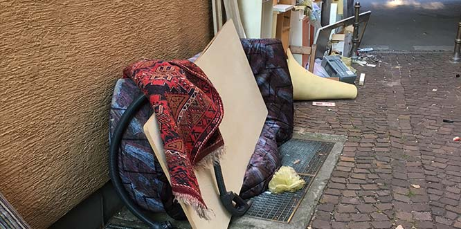 Die SPD Worms ärgert sich über illegal entsorgten Müll inmitten der Nibelungenstadt.