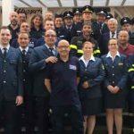 Herzlicher Empfang der italienischen Feuerwehr: Eine Wormser Delegation bestehend aus Feuerwehr, THW, ASB und DRK reiste am vergangenen Wochenende nach Borgo val di Taro.