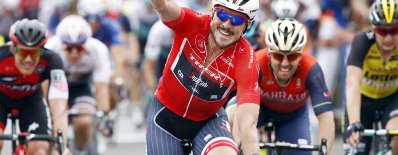 Gerade noch Etappensieger bei der Tour de France, möchte John Degenkolb am 31. Juli seinen Titel in Bürstadt verteidigen. Foto: Panters Rosa