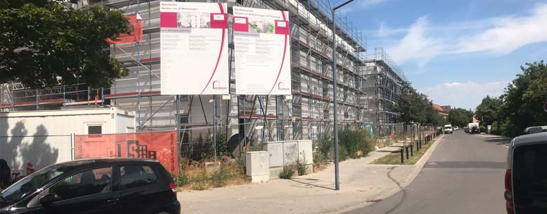 Derzeit im Bau befindet sich das größte Neubauprojekt im Bereich des Wohnungsbaus in Worms seit den 90er Jahren. In der Würdtweinstraße entstehen 54 neue Wohnungen mit Tiefgarage in einem Mix aus öffentlich geförderten und frei finanziertem Wohnraum.