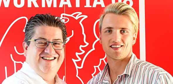 Von Links: Guiseppe Lepore, Leiter Geschäftsbetrieb, und Niklas Reichel. Foto: Karin Flesner