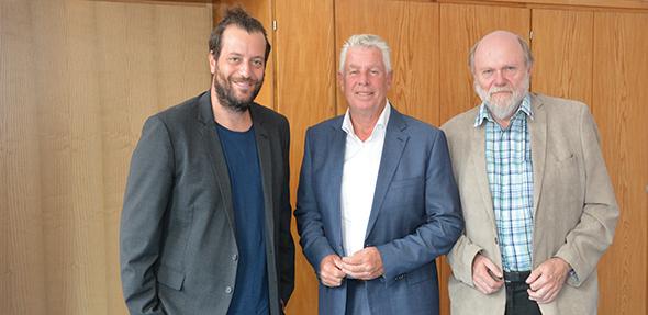Zufriedene Gesichter bei der Pressekonferenz. Von links: David Maier, Michael Kissel und Volker Gallé. Foto: Gernot Kirch