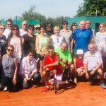 Mit Spaß bei der Sache waren die Sonntags-Brunch-Teilnehmer vom Tennisclub TCO Osthofen.