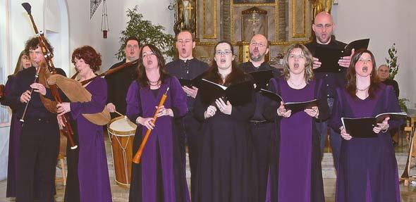 """Weltliche Musik der Reformationszeit bringt das Ensemble """"Ranunculus"""" zu Gehör."""