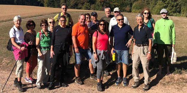 Die Herbstwanderung der TCO Osthofen bescherte auch dank des großartigen Wetters gute Laune.