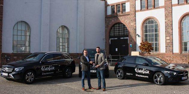 Über den Firmenzweig Mercedes-Benz Rent stellt die Falter-Gruppe für das WinterVarieté Worms Teamfahrzeuge zur Verfügung.