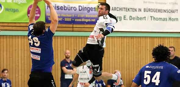 Moritz Happersberger und seine Mitspieler von der HSG Worms wollen am Sonntag um 18 Uhr in der Nikolaus-Doerr-Halle gegen die HSG Völklingen auch das erste Heimspiel gewinnen. Foto: Felix Diehl