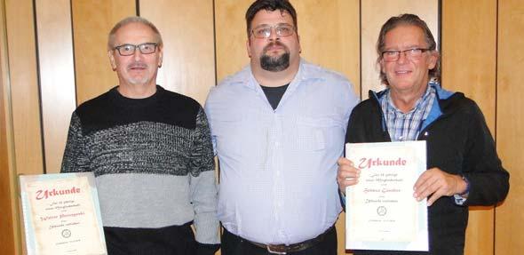 Walter Paruzynski, Kai Rohrscheidt und Helmut Günther (von links).