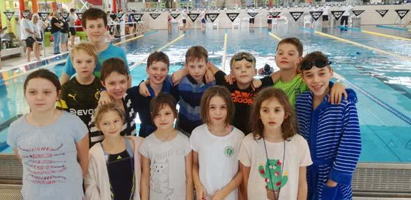 Das junge Team aus Worms hinterließ beim Internationalen Nikolaus-Schwimmen in Landau einen guten Eindruck.