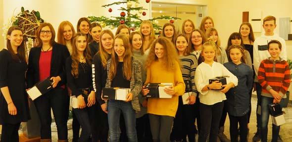 Die VfH-Sportlerinnen und Sportler, die bei den Deutschen Meisterschaften am Start waren, erhielten eine gesonderte Würdigung.