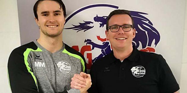 Von links: Julius Herbert wird in der nächsten Saison zur Freude des sportlichen Leiters Maximilian Noss gemeinsam mit seinem Bruder für die HSG Worms auflaufen.