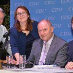 Der neue CDU-Vorstand mit neuem Oberbürgermeister. Von links: Joachim Graen, Marion Hartmann, Adolf Kessel und Stephanie Lohr. Foto: Gernot Kirch
