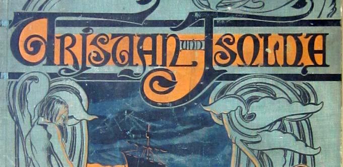 """Titelbild der Mappe zum graphischen Zyklus """"Tristan und Isolde""""."""