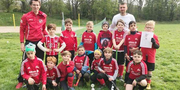 Die jungen Hockeyspieler freuen sich über weiter Spieler in den Jahrgängen 2011 und 2012.