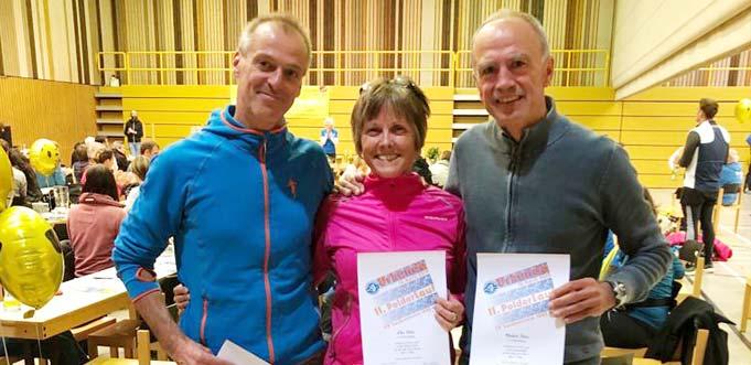 Die drei erfolgreichen LLG Athleten Gunnar Dussa, Elke Jizba und Manfred Jizba (von links).