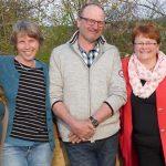 Margarete Van der Veen, Jutta Gellert, Walter Frieß und Uschi Knieling (von links).