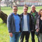 Kandidat*innen der Herrnsheimer Grünen für den Ortsbeirat (von links): Holger Dier, Michael Baar, Stefan Born, Heide Denig (Marianne van der Beek und Daniel Schwan fehlen).