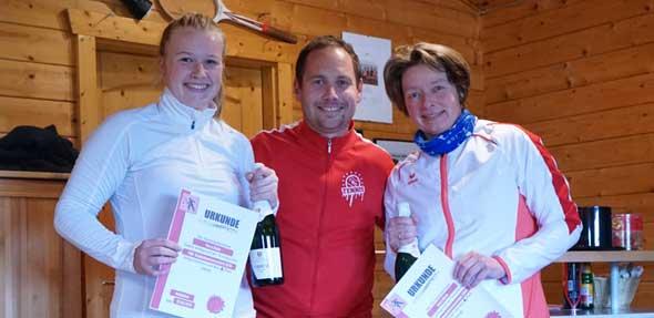 Ein Jahr Doppelmeister der Frauen: Ina Kolland und Dana Kolland.