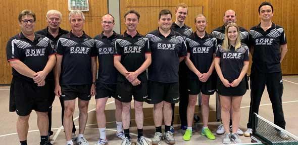Die Tischtennis-Herren des TSV Flörsheim-Dalsheim freuen sich über den Aufstieg.