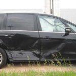 Unfallbeschädigter PKW des Vorfahrberechtigten. Foto: Polizei Worms
