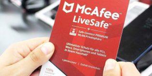 Media Markt empfiehlt z.B. die Installation der Antivirensoftware von McAfee für einen ungetrübten Surfspaß.
