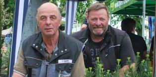 Volker Schmitt, links und Holger Busch freuen sich über den großen Erfolg in Heilbronn.