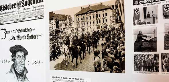 """Ausstellung """"Martin Luther im Nationalsozialismus"""". Foto: Jürgen Sendel/Stiftung Topographie des Terrors"""