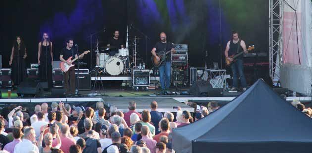 """Progressiver Pink-Floyd-Sound: Die 2007 gegründeten """"Relics"""" zelebrierten Pink Floyd. Foto: Ina Pohl"""