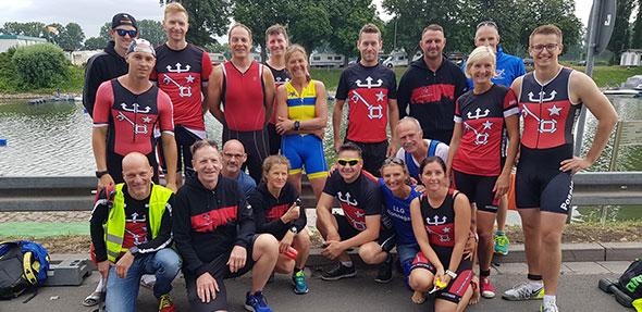 Die Teilnehmer des LLG Wonnegau und Poseidon Worms konnten sich hervorragende Platzierungen beim Nibelungen Triathlon sichern.