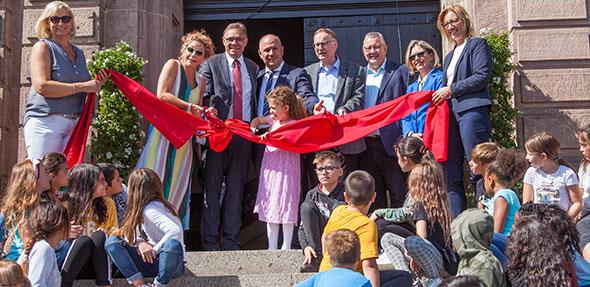 Die Ernst-Ludwig-Grundschule ist nun offiziell wieder geöffnet. Foto: Ina Pohl