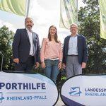 Von links: EWR-Vorstand Stephan Wilhelm, Bahnrad-Profi Miriam Welte und Jochen Borchert, kommissarischer Präsident des LSB, möchten in den kommenden drei Jahren einiges bewegen.
