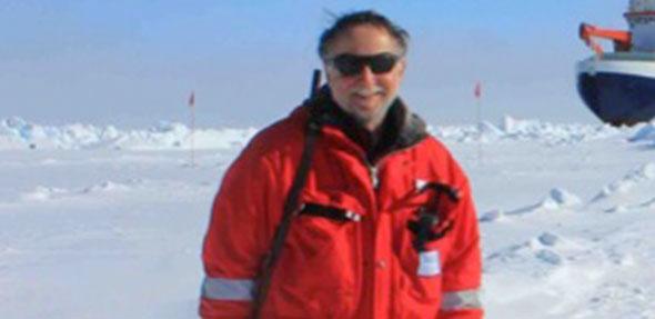 Rolf Gradliniger ist Meeresbiologe und Polareisforscher und konnte in Pfeddersheim einen guten Einblick in seine Tätigkeiten geben.